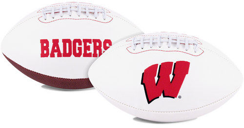 Signature Series NCAA Wisconsin Badgers Autograph Full Size Football