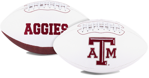 Signature Series NCAA Texas A&M Aggies Autograph Full Size Football