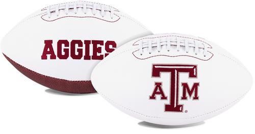 Signature Series NCAA Texas A&M Aggies Autograph Full Size Football