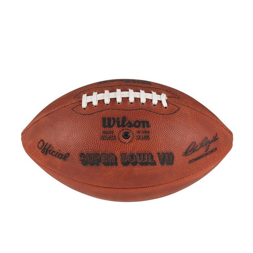 Super Bowl VII (Seven 7) Washington Redskins vs. Miami Dolphins Official Leather Authentic Game Football by Wilson