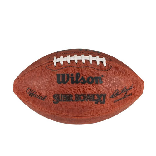 Super Bowl XI (Eleven 11) Minnesota Vikings vs. Oakland Raiders Official Leather Authentic Game Football by Wilson