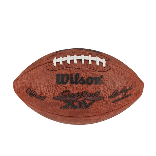 Super Bowl XIV (Fourteen 14) Los Angeles Rams vs. Pittsburgh Steelers Official Leather Authentic Game Football by Wilson