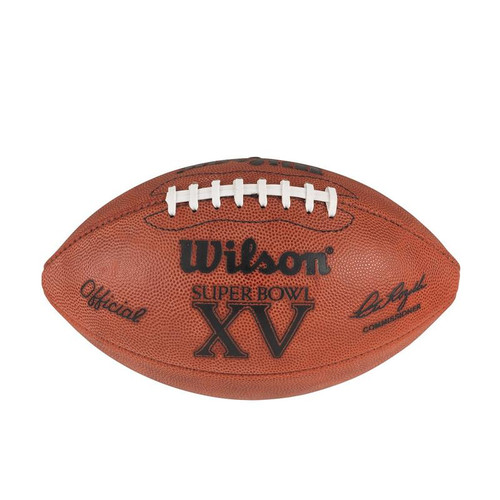 Super Bowl XV (Fifteen 15) Philadelphia Eagles vs. Oakland Raiders Official Leather Authentic Game Football by Wilson