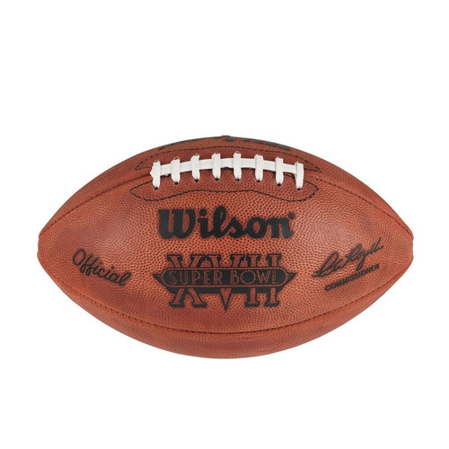 Super Bowl XVII (Seventeen 17) Washington Redskins vs. Miami Dolphins Official Leather Authentic Game Football by Wilson