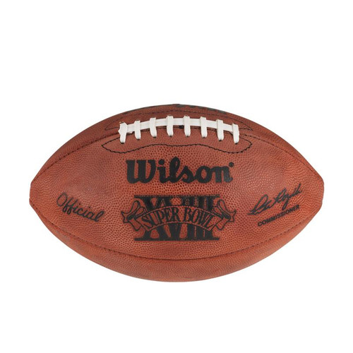 Super Bowl XVIII (Eighteen 18) Washington Redskins vs. Los Angeles Raiders Official Leather Authentic Game Football by Wilson
