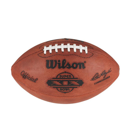 Super Bowl XIX (Nineteen 19) San Francisco 49ers vs. Miami Dolphins Official Leather Authentic Game Football by Wilson