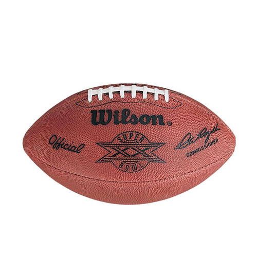 Super Bowl XX (Twenty 20) Chicago Bears vs. New England Patriots Official Leather Authentic Game Football by Wilson