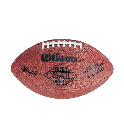 Super Bowl XXII (Twenty-Two 22) Washington Redskins vs. Denver Broncos Official Leather Authentic Game Football by Wilson