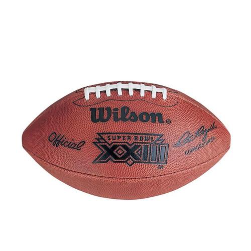 Super Bowl XXIII (Twenty-Three 23) San Francisco 49ers vs. Cincinnati Bengals Official Leather Authentic Game Football by Wilson