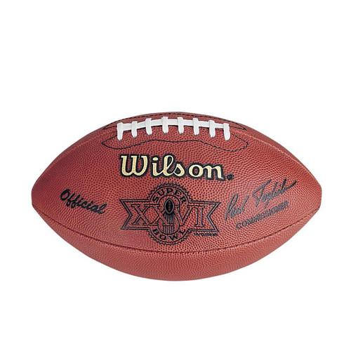 Super Bowl XXVI (Twenty-Six 26) Washington Redskins vs. Buffalo Bills Official Leather Authentic Game Football by Wilson