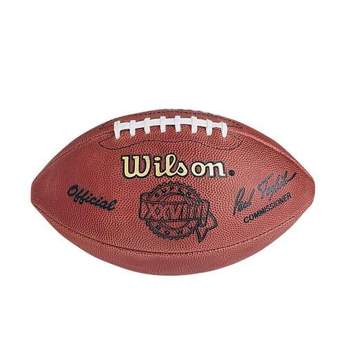 Super Bowl XXVIII (Twenty-Eight 28) Dallas Cowboys vs. Buffalo Bills Official Leather Authentic Game Football by Wilson