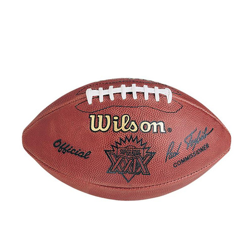 Super Bowl XXIX (Twenty-Nine 29) San Francisco 49ers vs. San Diego Chargers Official Leather Authentic Game Football by Wilson