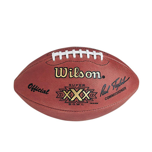 Super Bowl XXX (Thirty 30) Dallas Cowboys vs. Pittsburgh Steelers Official Leather Authentic Game Football by Wilson