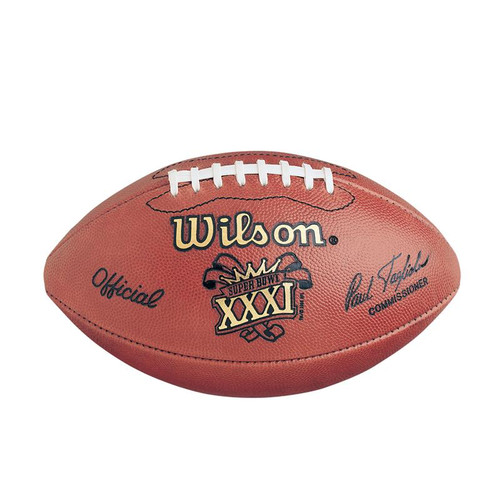 Super Bowl XXXI (Thirty-One 31) Green Bay Packers vs. New England Patriots Official Leather Authentic Game Football by Wilson