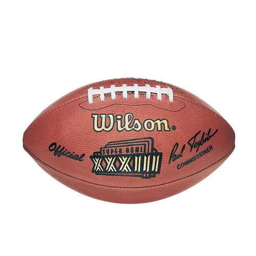 Super Bowl XXXIII (Thirty-Three 33) Atlanta Falcons vs. Denver Broncos Official Leather Authentic Game Football by Wilson