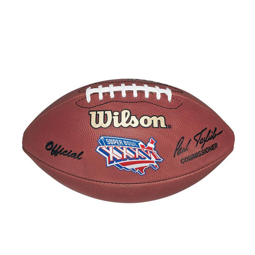 Super Bowl XXXVI (Thirty-Six 36) St. Louis Rams vs. New England Patriots Official Leather Authentic Game Football by Wilson