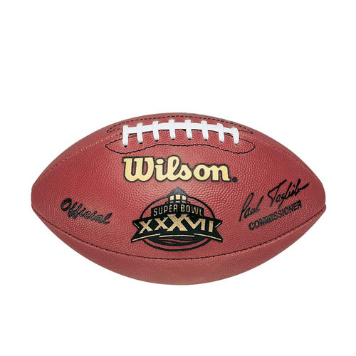 Super Bowl XXXVII (Thirty-Seven 37) Tampa Bay Buccaneers vs. Oakland Raiders Official Leather Authentic Game Football by Wilson