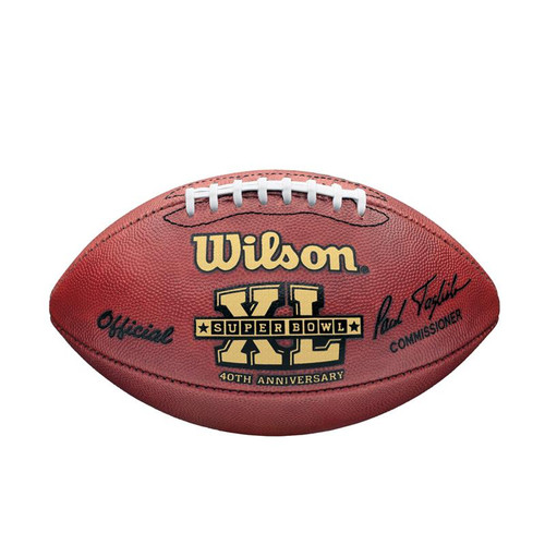 Super Bowl XL (Forty 40) Seattle Seahawks vs. Pittsburgh Steelers Official Leather Authentic Game Football by Wilson