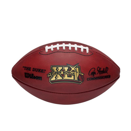 Super Bowl XLI (Forty-One 41) Chicago Bears vs. Indianapolis Colts Official Leather Authentic Game Football by Wilson