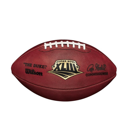 Super Bowl XLIII (Forty-Three 43) Arizona Cardinals vs. Pittsburgh Steelers Official Leather Authentic Game Football by Wilson