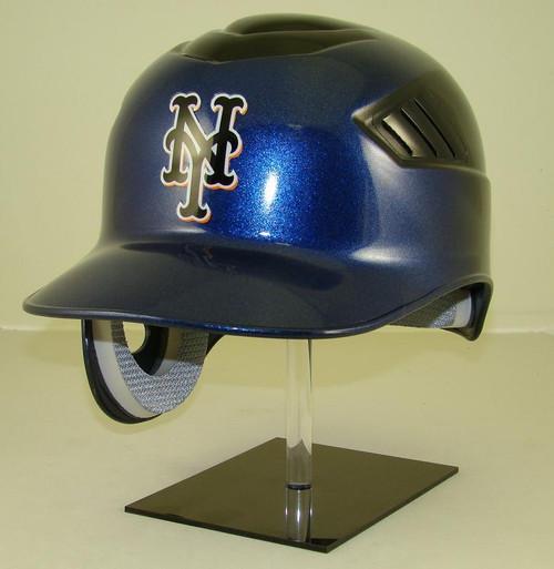 New York Mets Black and Blue Rawlings Coolflo REC Full Size Baseball Batting Helmet