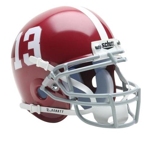 Alabama Crimson Tide #13 Schutt Mini Authentic Helmet