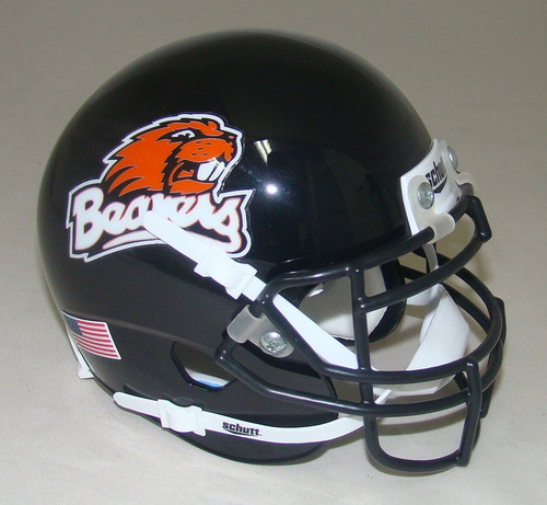 Oregon State Beavers Black Schutt Mini Authentic Football Helmet