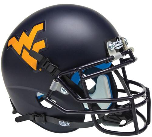 West Virginia Mountaineers Matte Navy Schutt Mini Authentic Football Helmet