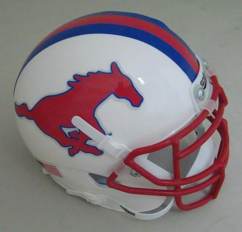 Southern Methodist SMU Mustangs Schutt Mini Authentic Football Helmet