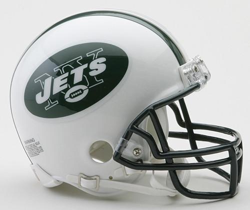 New York Jets 1998-2018 Throwbqack Riddell VSR4  Mini Football Helmet