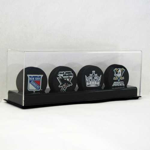 DELUXE FOUR HOCKEY PUCK DISPLAY