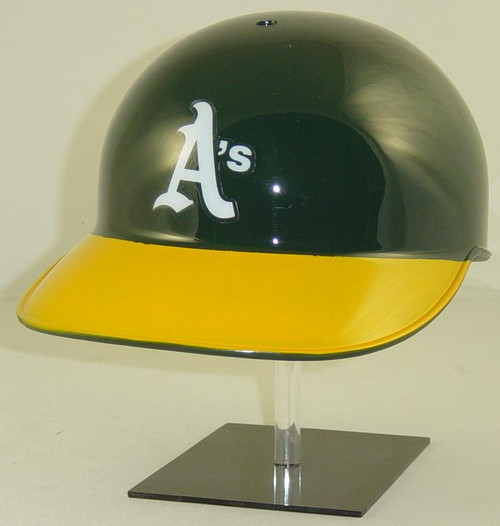 Oakland A's Rawlings Classic NEC Full Size Baseball Coaches or Catchers Helmet