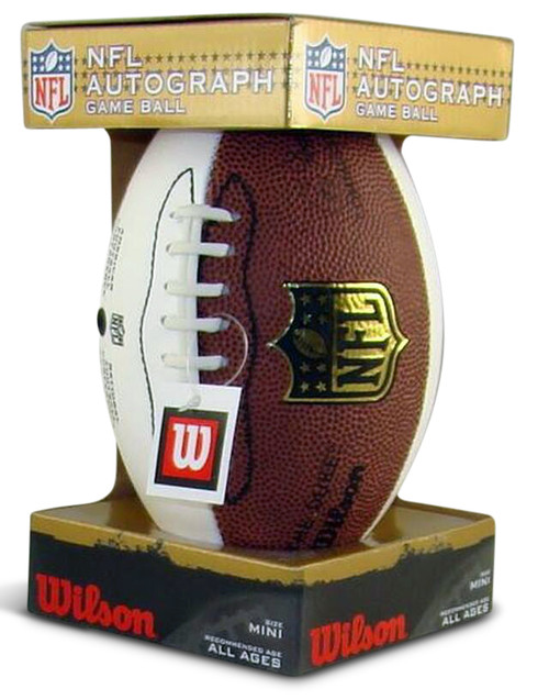 NFL Autograph White Panel Mini Game Football by Wilson