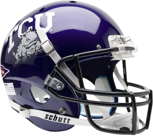 TCU Texas Christian Horned Frogs Schutt Full Size Replica XP Football Helmet