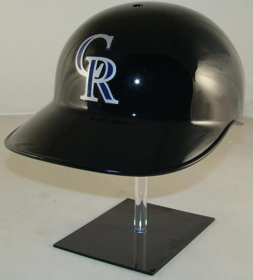 Colorado Rockies Black Rawlings Classic NEC Full Size Baseball Batting Helmet