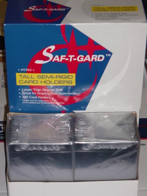 200 TALL Semi-Rigids (Oversize for Graded Cards) SPORTS CARD SEMI-RIGID CARD HOLDERS