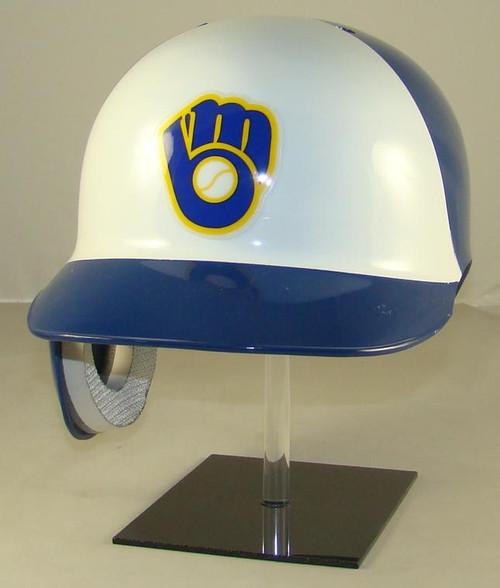 Milwaukee Brewers Rawlings REC White Throwback Full Size Baseball Batting Helmet