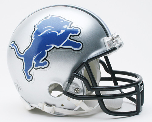 Detroit Lions Throwback  2009 to 2016 Riddell Mini Helmet