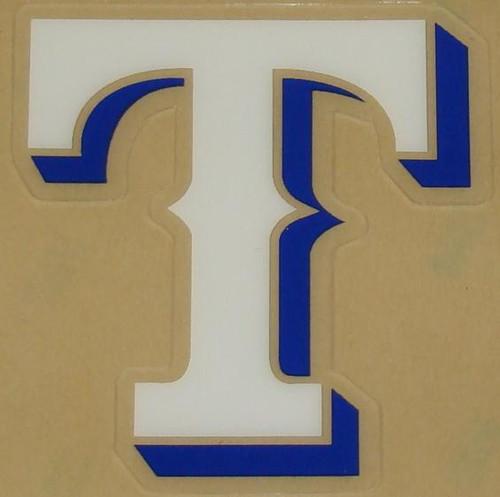 TEXAS RANGERS (BLUE) FULL SIZE HELMET 3M STICKER DECAL
