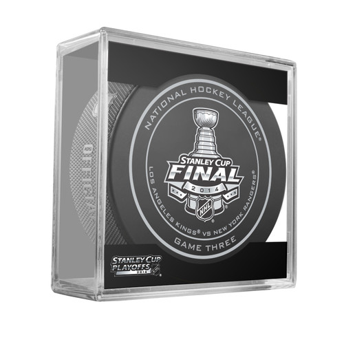 2014 NHL Stanley Cup Finals Playoff Sherwood Official Game Puck - Game 3 (Three)