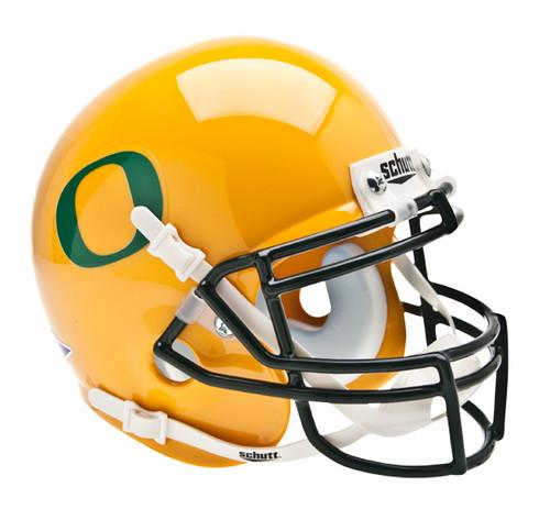 Oregon Ducks Schutt Mini Authentic Helmet - Yellow / Gold