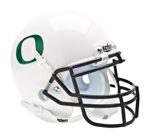 Oregon Ducks Schutt Mini Authentic Helmet - White