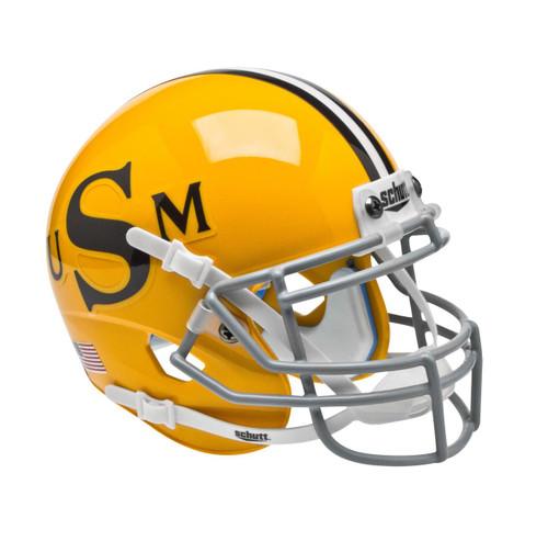 Southern Miss Mississippi Golden Eagles Alternate Gold Vintage Schutt Mini Authentic Football Helmet