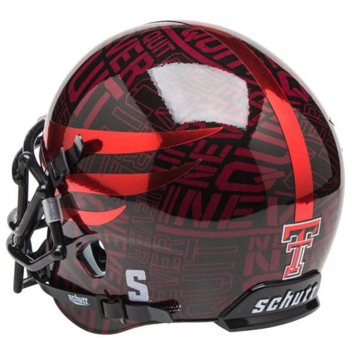Texas Tech Red Raiders Alternate NEVER QUIT - LONE SURVIVOR Schutt Mini Authentic Football Helmet