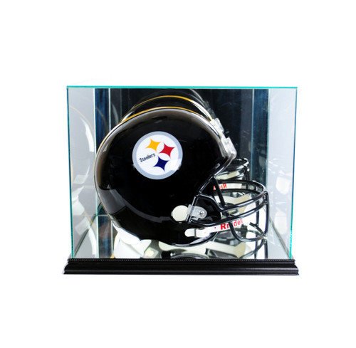 Deluxe Real Glass  Rectangle Football Helmet Display Case
