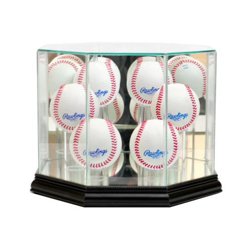 Deluxe Real Glass 6 Baseball Display Case