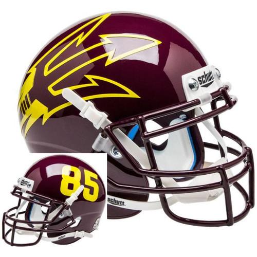 Arizona State Sun Devils Maroon Big Fork Alternate Schutt Mini Authentic Football Helmet