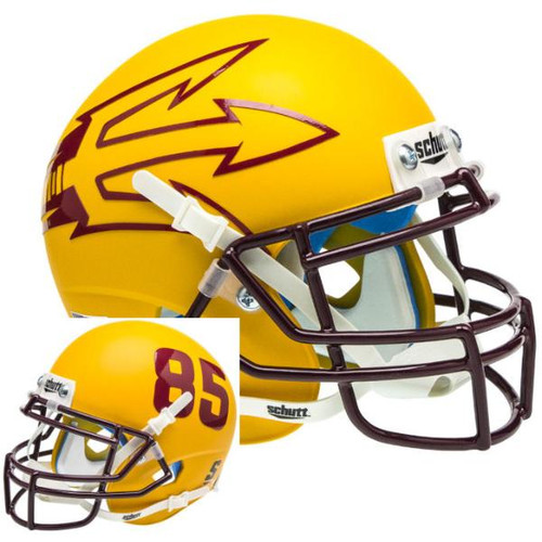 Arizona State Sun Devils Gold Big Fork Alternate Schutt Mini Authentic Football Helmet