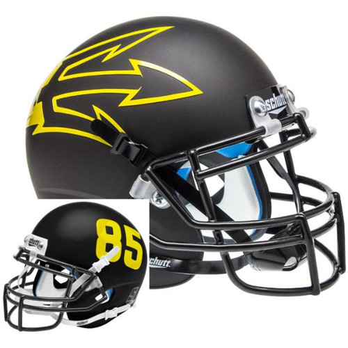 Arizona State Sun Devils Black Big Fork Alternate Schutt Mini Authentic Football Helmet
