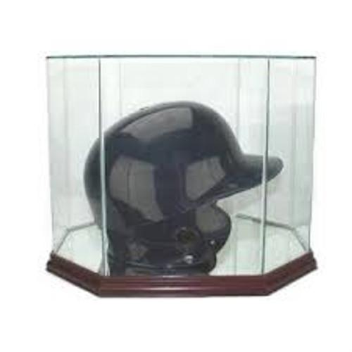 Deluxe Real Glass Batting Helmet Octagon Display Case